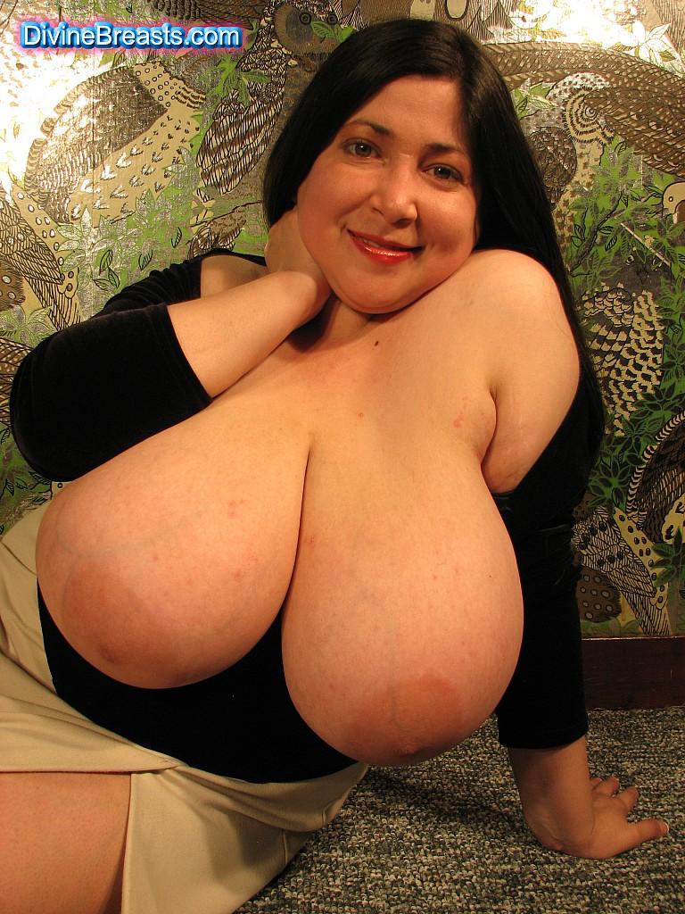 Big boobs in a very tiny monokini