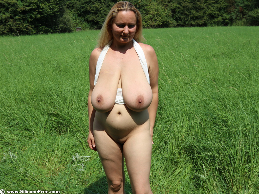 image Milf huge natural boobs naked outside