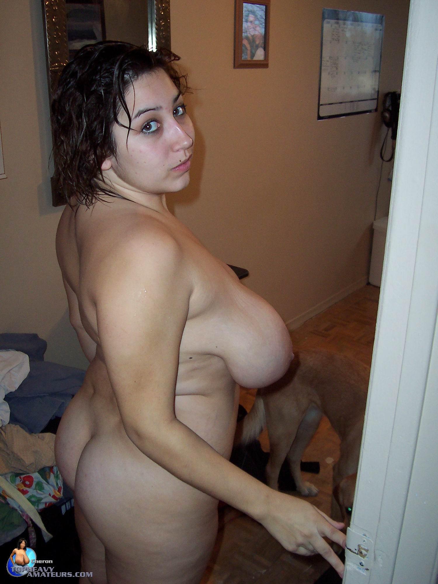 Milf with big black nipples